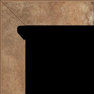Scandiano Rosso Cokół 2 El. Lewy 8,1x30