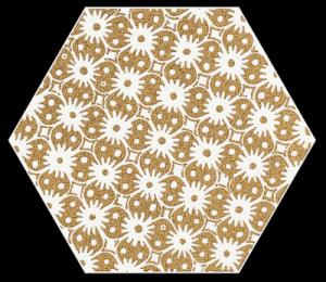 Paradyż Shiny Lines Gold Heksagon Inserto D 19,8x17,1