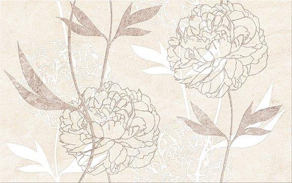 Ferrata Beige Inserto Flower 25x40