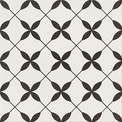 Patchwork Clover Black Pattern 29,8x29,8