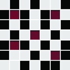Michelle White-Black Mosaic 20x20