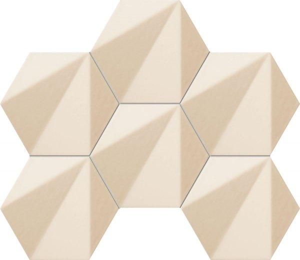 Chenille Beige Hex Mozaika 28,9x22,1