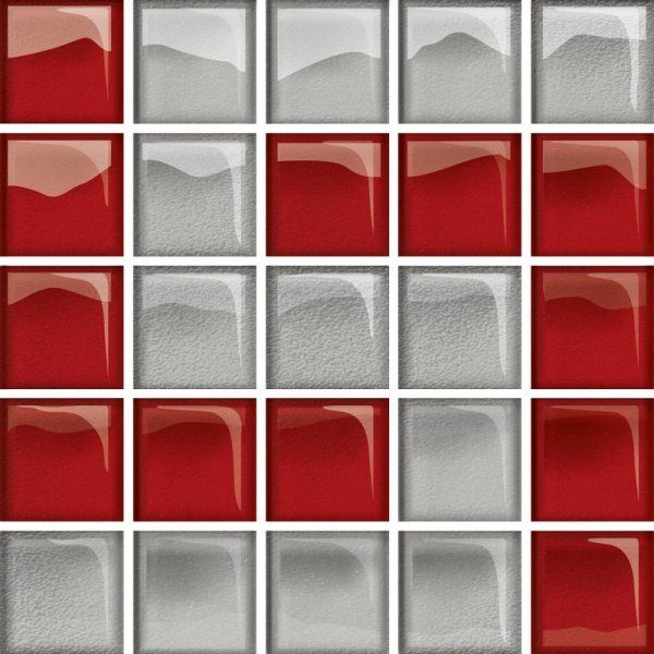 Glass Silver Red Mosaic D New 14,8x14,8
