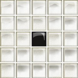 OPOCZNO glass white/black mosaic a new 14,8x14,8 szt.