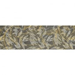 CERRAD gres softcement graphite decor flower rect.  1197x297x8 g1 m2