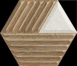 PARADYZ woodskin mix heksagon struktura c sciana 19,8x17,1 g1