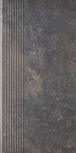 PARADYZ viano antracite stopnica prosta 30x60 g1