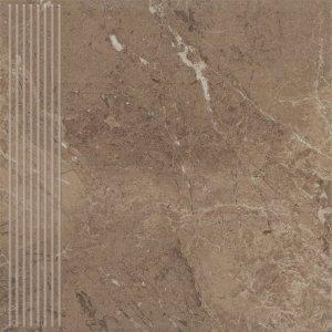 PARADYZ track brown stopnica prosta 30x30 g1