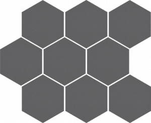 CERRAD cambia grafit lappato mozaika heksagon  33,4x27,53x8 g1 szt.