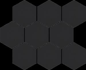 CERRAD cambia black lappato mozaika heksagon  33,4x27,53x8 g1 szt.