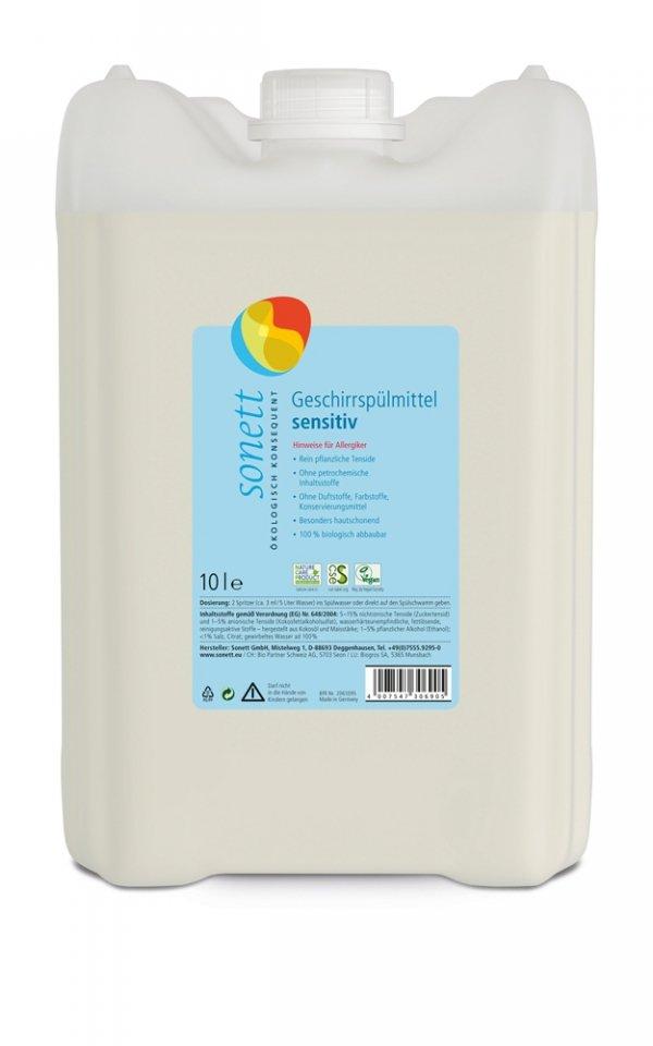 D038 Płyn do mycia naczyń SENSITIV 10 litrów