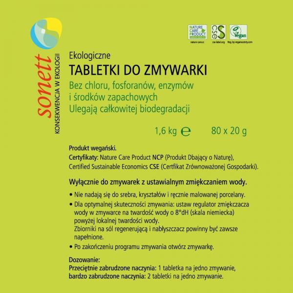 D056 Tabletki do zmywarki 80 szt. 1,6 kg