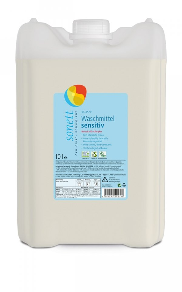 D336 Płyn do prania SENSITIV 10 litrów
