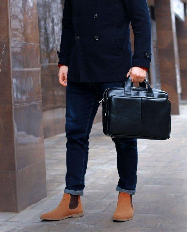 Skórzana torba na laptop Solome premier brązowa plener 1