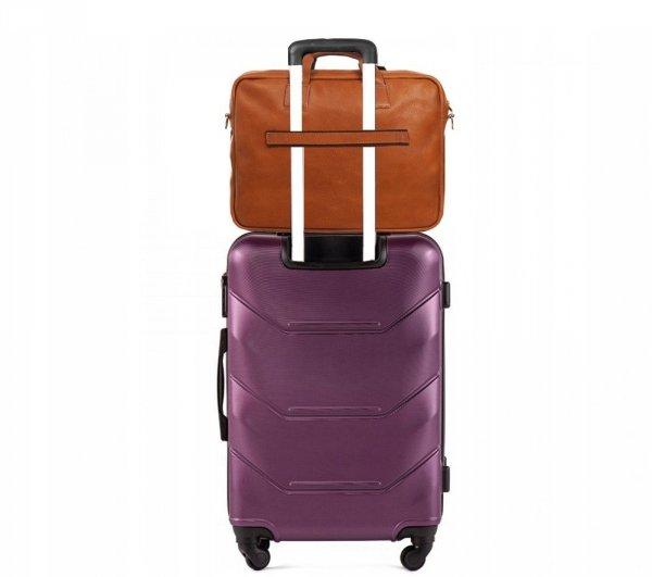 Skórzana torba na laptopa Solome premier karmel detal 6
