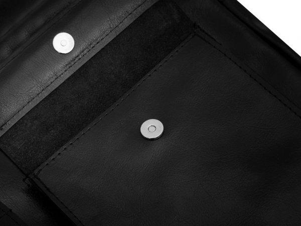 Torba skórzana na laptop Solome Windsor czarna detal 1