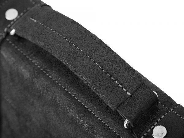Skórzana torba na ramię Solome Lago 02Z grafitowa detal