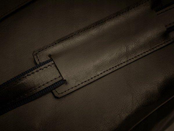 Skórzana torba na laptopa Solome Windsor brązowa detal 2