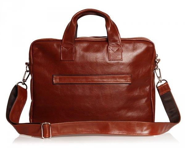 Skórzana torba na laptopa Solome premier karmel tył