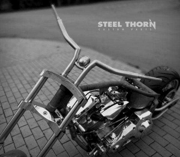 "Handlebar Steel Thorn 111 + speedometer Motogadget Harley Davidson Victory Honda Yamaha Kawasaki Suzuki 1 1/4"""