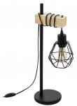 DREWNIANA LAMPA STOŁOWA NOCNA EGLO TOWNSHEND 43136 LOFT VINTAGE