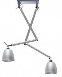 NOWOCZESNA LAMPA SUFITOWA WISZĄCA AZZARDO ZYTA 2 S PENDANT ALUMINIOWA ALU AZ2301+AZ2594+AZ2594 23cm