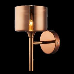 NOWOCZESNA LAMPA ŚCIENNA KINKIET COPENHAGEN W01066CU COSMO LIGHT SZKŁO MIEDZIANA