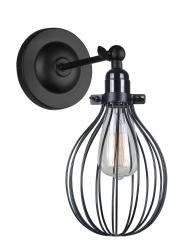 CZARNY KINKIET VINTAGE ITALUX LESTO MBM-2676/1 BK LAMPA INDUSTRIALNA