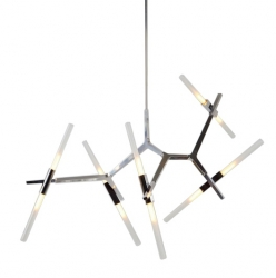 LAMPA WISZĄCA CANDELABR 10 1153S-10 KING HOME