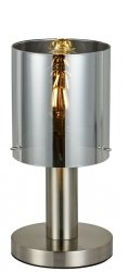 NOWOCZESNA SZKLANA LAMPKA STOŁOWA ITALUX SARDO TB-5581-1-SC+SG DESIGNERSKA LOFT