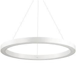 BIAŁA LAMPA WISZĄCA OKRĄG IDEAL LUX ORACLE ROUND D70 BIANCO 211381 NOWOCZESNA RING LED