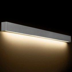 KINKIET LISTWA LED NAD LUSTRO STRAIGHT WALL LED 9615 METALOWY SREBRNY NOWODVORSKI