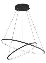 OKRĄGŁA LAMPA WISZĄCA KOŁO MILAGRO ML993 ORION BLACK 53W LED CZARNA BARWA NEUTRALNA 4000K