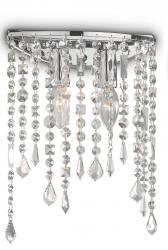 KRYSZTAŁOWA LAMPA SUFITOWA RAIN AP2 IDEAL LUX CHROM Z KRYSZTAŁKAMI GLAMOUR