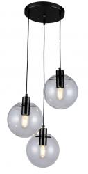 NOWOCZESNA SZKLANA LAMPA WISZĄCA LIGHT PRESTIGE PUERTO LP-004/3P BK