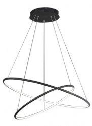 OKRĄGŁA LAMPA WISZĄCA KOŁO MILAGRO ML508 ORION BLACK 53W LED CZARNA BARWA CIEPŁA 3000K
