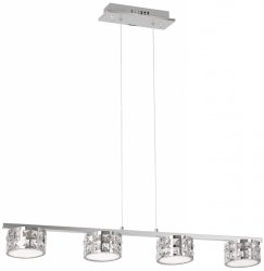 KRYSZTAŁOWA LAMPA WISZĄCA NAD STÓŁ MILAGRO ALEX 4x5W LED ML368 CHROM