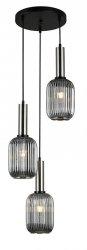 NOWOCZESNA SZKLANA LAMPA WISZĄCA ITALUX ANTIOLA PND-5588-3AM-SC+SG DESIGNERSKA LOFT
