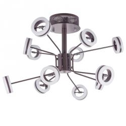 LAMPA SUFITOWA PLAFON LED DESIGNERSKI METIS ITALUX AX16002-12A COFFEE