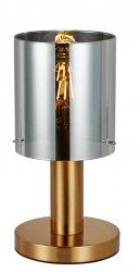 NOWOCZESNA SZKLANA LAMPKA STOŁOWA ITALUX SARDO TB-5581-1-BRO+SG DESIGNERSKA LOFT