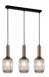 NOWOCZESNA SZKLANA LAMPA WISZĄCA ITALUX ANTIOLA PND-5588-3M-BRO+AMB DESIGNERSKA LOFT
