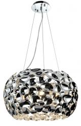 LAMPA WISZĄCA CHROM GLAMOUR CARERA CROMO ORLICKI DESIGN