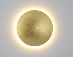 NOWOCZESNY KINKIET ŚCIENNY/PLAFON SUFITOWY LED LIGHT PRESTIGE PLATILLO  LP-8102/1C-18W GD