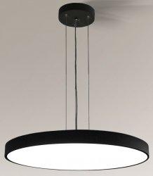 NOWOCZESNA CZARNA LAMPA WISZĄCA KOŁO LED SHILO NUNGO 6012