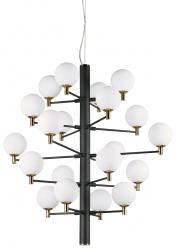 DESIGNERSKA LAMPA WISZĄCA COPERNICO SP20 IDEAL LUX CZARNA