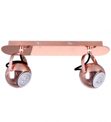 MIEDZIANA LAMPA SUFITOWA SPOT ITALUX NICOLA RC FH5952AJ13-80-RC REFLEKTOR