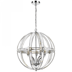 NOWOCZESNA LAMPA SUFITOWA GLAMOUR COSMO LIGHT ORLANDO P05735CH