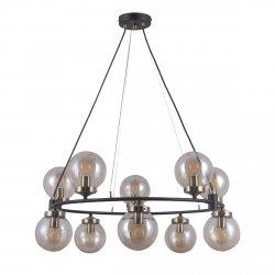 NOWOCZESNA LAMPA WISZĄCA LOFT KULE ITALUX GALVEZ PND-28622-10A CHROM INDUSTRIALNA LAMPA DO SALONU - JADALNI