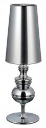 LAMPA STOŁOWA QUEEN 1018T1.CHROME KING HOME