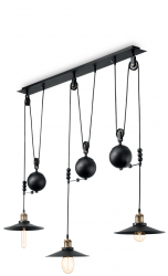 LAMPA WISZĄCA UP AND DOWN IDEAL LUX LOFT CZARNA